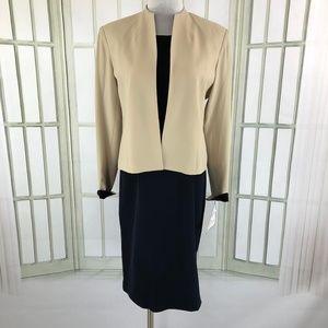 Mary McFadden 2 PC Career Business Dress w/ Jacket